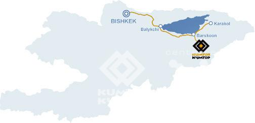 map of Kumtor