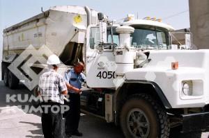 Marshaling Yard of the Kumtor Operating Company in Balykchy