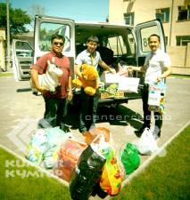 Orphans of Jeti-Oguz district received gifts from Kyrgyz-Investment and Credit Bank and Kumtor Operating Company