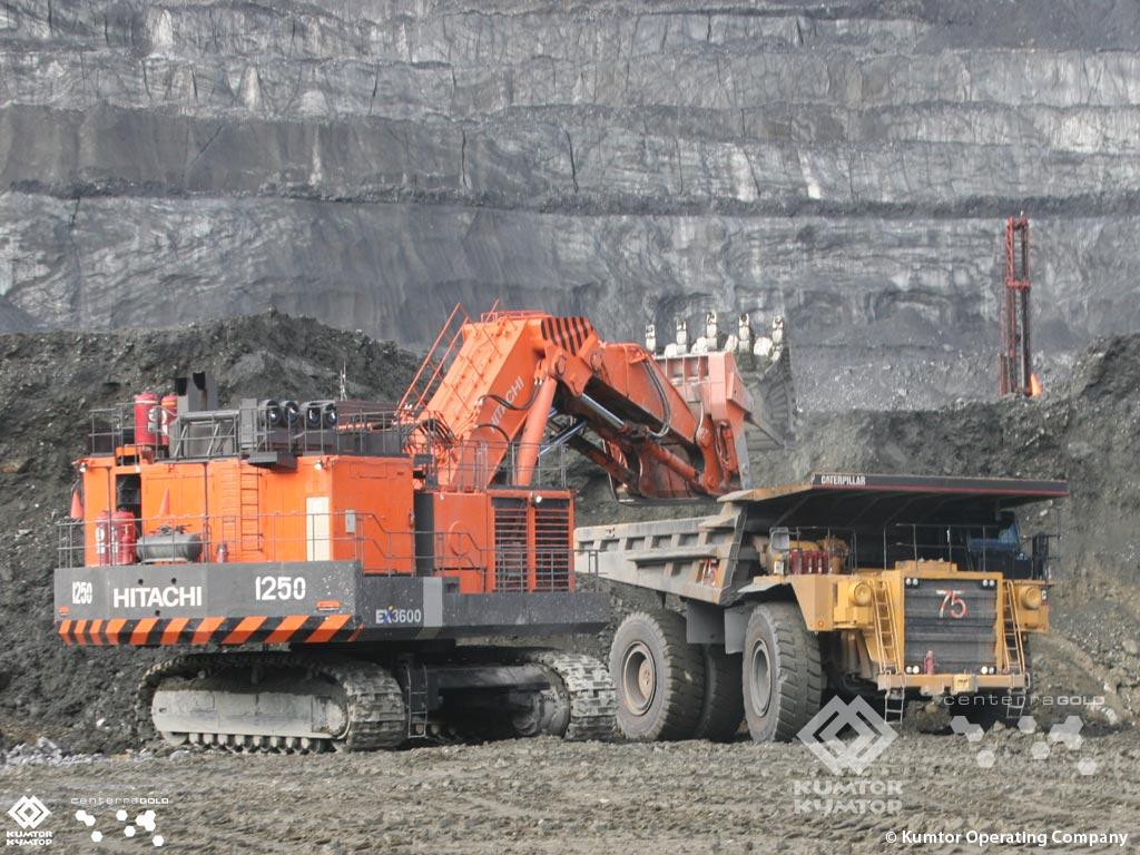 First Open Pit Mine Excavator Hitachi 3600 With A Bucket Capacity Of 23 Cubic Meters Commissioned At Kumtor Kumtor Gold Company