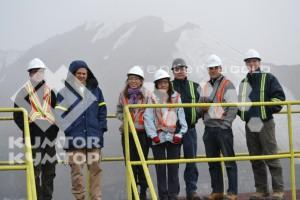 Representatives of youth environmental NGOs and the Swiss program for the development visited Kumtor mine site