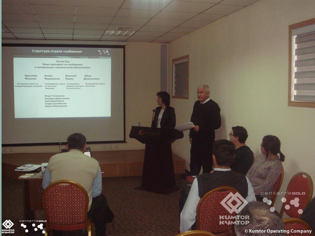 Компания «Кумтор» провела презентацию обзора производимых предприятием закупок
