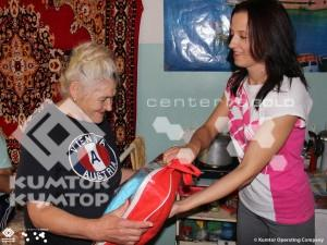Ahead of Elderly People Day Kumtor Made Donation to Nursing Home at Nizhnyaya Seraphimovka