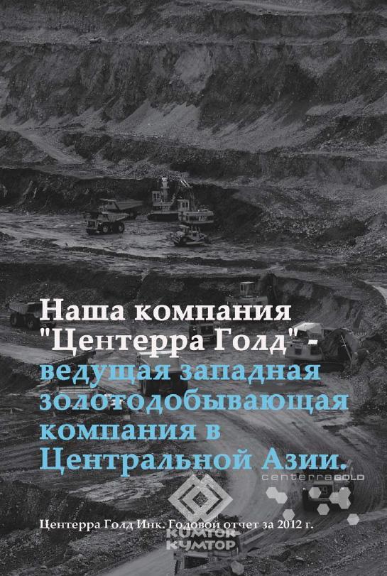Годовой Отчет Центерра Голд Инк. за 2012 год