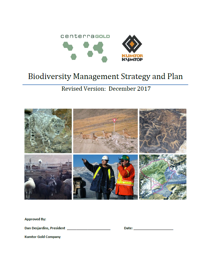 Biodiversity Management Strategy and Plan